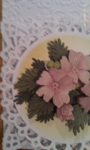 Vintage Floral Card Close up