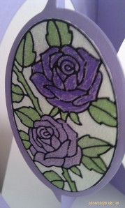 Elizabeth Craft Roses in Oval Sticker