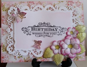 Heartfelt Creations Botanical Rose Butterfly Medley