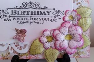 Heartfelt Creations Botanical Rose Butterfly Medley