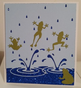 Memory Box Splashing Puddles, Poppy Stamps Pond Frogs