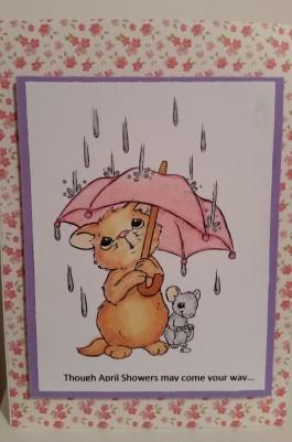 Motivet Cat and Mouse in the Rain Spectrum Noir