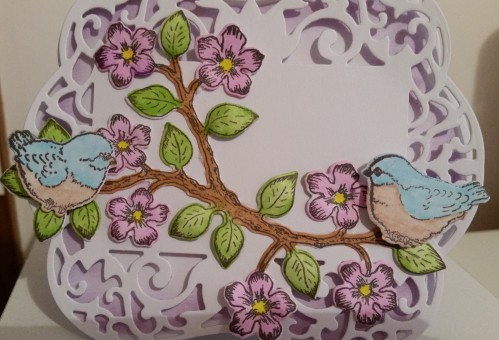 Heartfelt Creations Birds and Blooms Spellbinders Labels 54