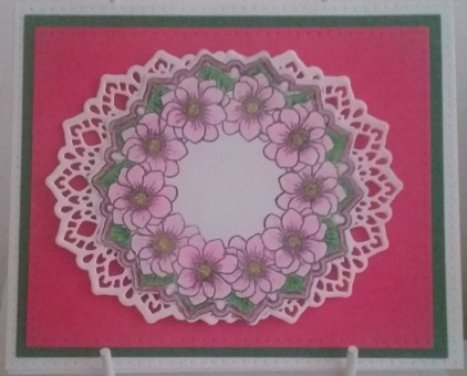 Sue Wilson: Frames and Tags Collection - Julia Noble Collection - Double Pierced Rectangles and Double Pierced Rectangles B Julia's Magnolia Circle