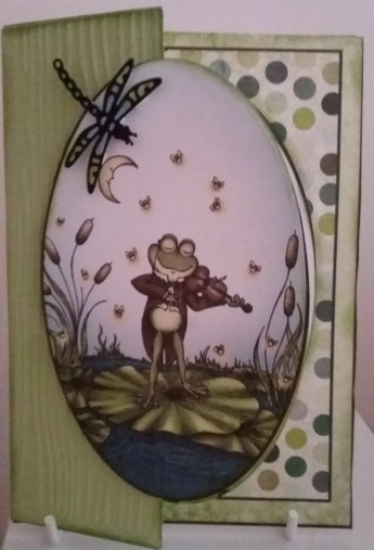 Heartfelt Creations Winking Frog Collection Elizabeth Craft Small Drgonfly