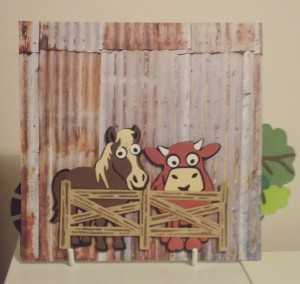 Elizabeth Craft Karen Burniston Cocoa the Horse Brownie the Cow Fence Pop Stand