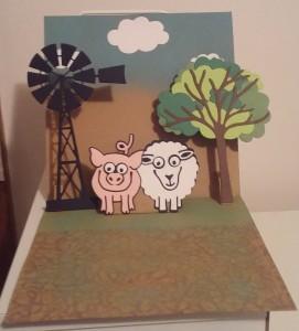 Elizabeth Craft Karen Burniston Virgil the Pig Snowball the Sheep All Seasons Tree Paper Roses Windmill Large Darkroom Door Pebbles