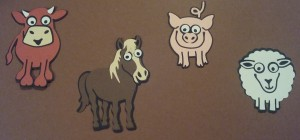 Elizabeth Craft Karen Burniston Brownie the Cow Cocoa the Horse Snowball the Sheep Virgil the Pig